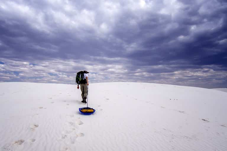 Can You Sled at White Sands