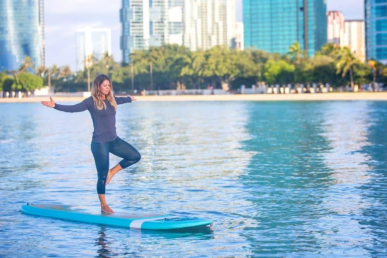 How to Paddle Board and Do Yoga at the Same Time